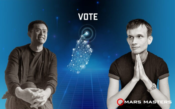 chang peng zhao and vitalik buterin