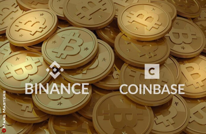 Binance and Coinbase are facing outages as Bitcoin's price increases.