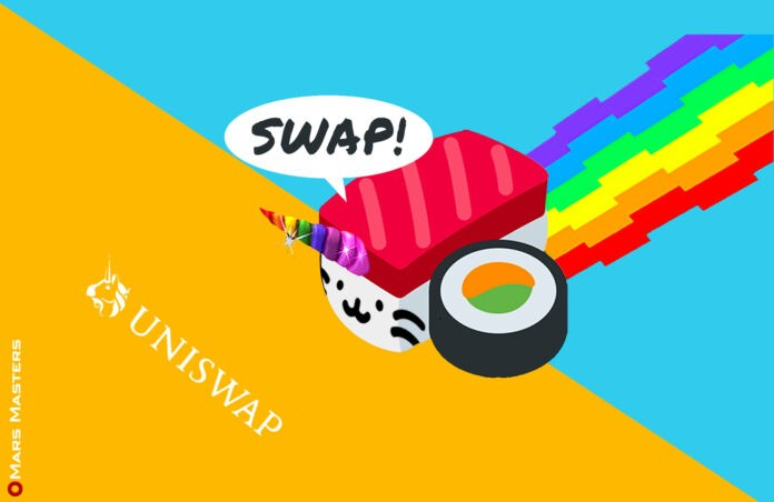SushiSwap is eating into Uniswap's market share following Yearn merger